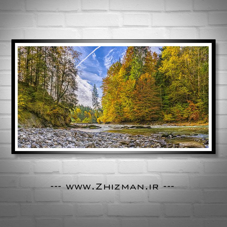 عکس طبیعت پاییزی و رودخانه