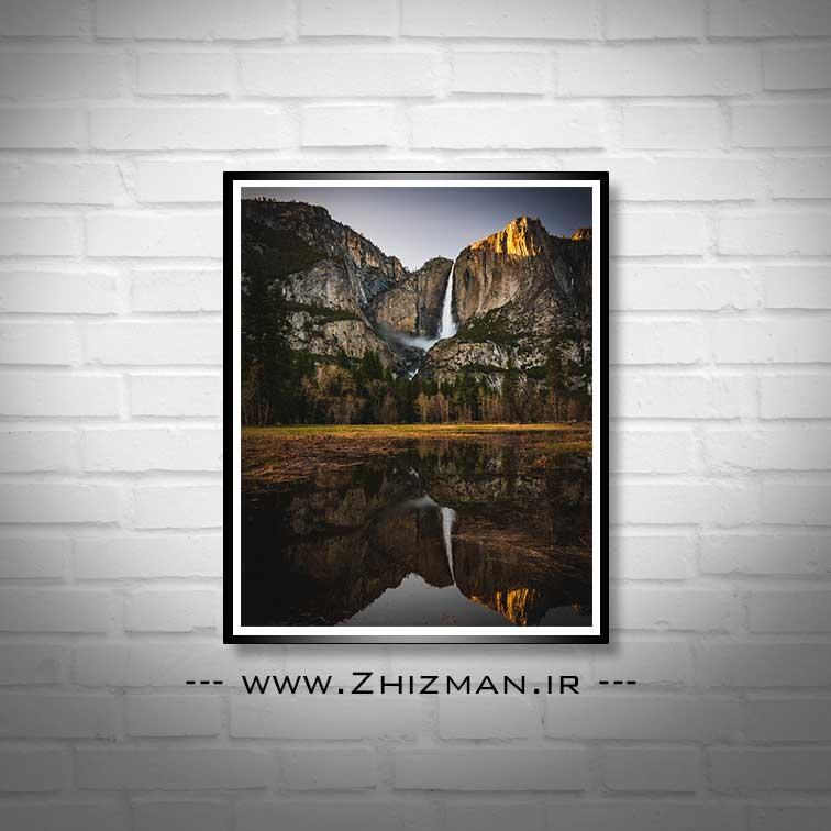 عکس آبشار و دریاچه یوسمیت