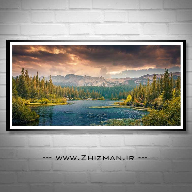 عکس رود میان جنگل و کوه