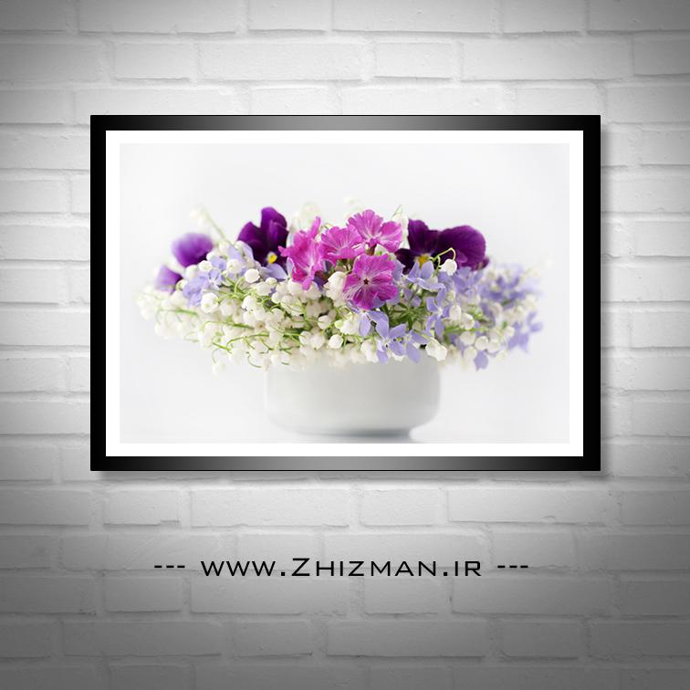 عکس با کیفیت گل سفید و بنفش