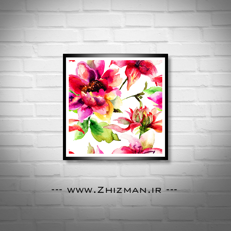 نقاشی با آبرنگ طرح گل