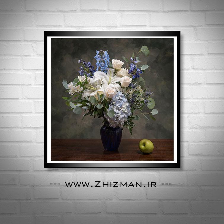 عکس گل سفید و آبی با کیفیت بالا