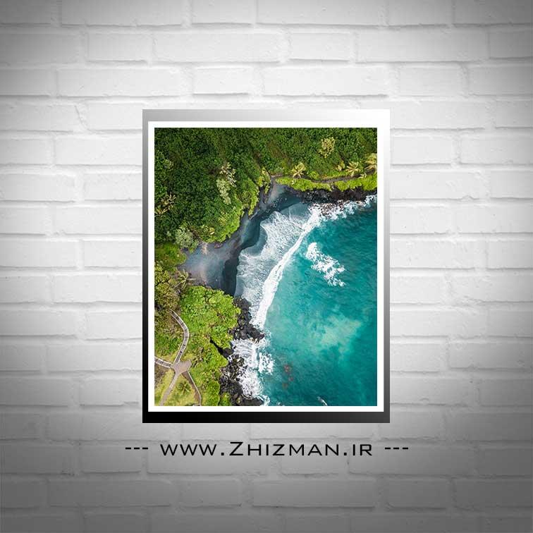 عکس ساحل سیاه هانا، هاوایی