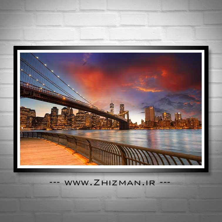عکس زیباترین پل معلق دنیا - پل بروکلین