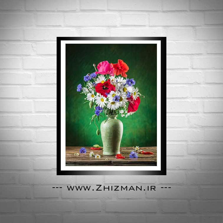 عکس گلدان پر از گل